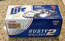 RUSTY WALLACE #2 1:64 1998 NASCAR ELVIS PRESLEY MILLER LITE TCB STOCK CAR