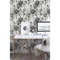 Black and white garden removable Wallpaper Decor Self Adhesive Peel & Stick