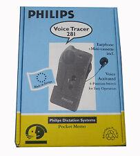 Philips 281 Pocket Memo Dictaphone pour minikassette NEUF #70