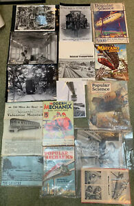 1930's To 1971 - All Monorail Related Magazines, Photos, Popular Science, Ford!