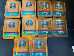 PANINI UEFA EURO 2020 TOURNAMENT EDITION STICKERS  10 PACKETS