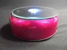 "3D Laser Crystal Trophy -7 LED Lights 4"" Rotate Stand Display Pink  Base AC/DC"