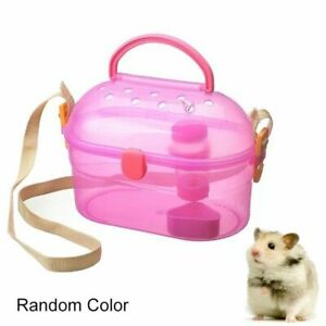Portable Travel Hamster Cage Small Mouse Carrying Case House Bed Backpack