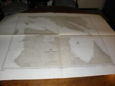 Vintage US Navy Nautical Chart ,CANADA . HUDSON STRAIT