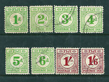 Fiji 1940 Postage Dues set of 8 fine used - SCARCE!!