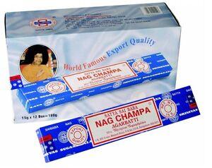 6 x Original Satya Sai Baba Nag Champa Agarbatti Incense Stick Insence Brand New