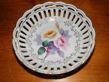 Decorative Porcelain Reticulated Handpainted Bowl,made in Japan