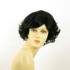 Perruque femme courte bouclée brun foncé MATHILDE 2