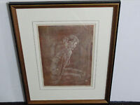 """Figure Study"" Limited Edition-Artist Signed by Pencil -Woodcut-Original Print!!"