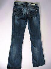 Jeans Rerock Express Distressed Boot Cut 27x30 Sz 2 Short Denim Hardware