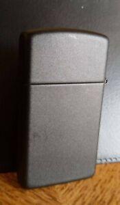 Zippo lighter Slim Matte black 2008 With original Box