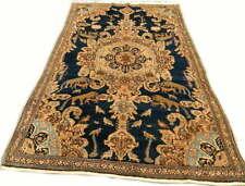 Superbe Tapis Persan Antique Malayer Début XX ème Fait Main 208 x 136 Rare