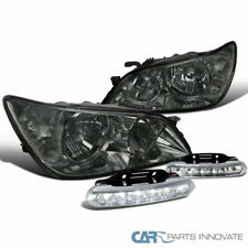 Fit 01-05 Lexus IS300 Smoke Tinted Headlights+Clear LED Fog Bumper Lights
