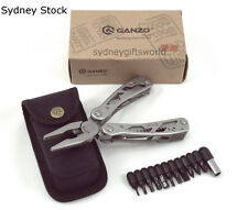 GANZO G202 24 IN ONE CAMPING HIKING SURVIVAL MULTI TOOL STAINLESS STEEL WITH CAS