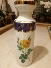 AK Kaiser Porzellan Blumenvase Vase gelbe Rose Goldrand  H 30,7 cm  50er - Top