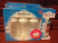 Coffret Bébé Confort Biberon 3x270ml 0-12m + Doseur Lait Voyage Neuf