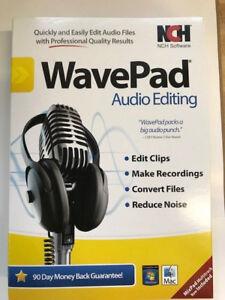 NCH Software Wavepad 5 Audio Editing For Windows/Mac NEW!