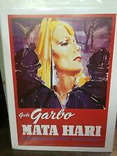 "Theater Movie Poster Printed In Italy 23.75"" x 31.5"" Greta Garbo Mata Hari"