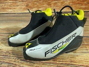 Fischer XJ Sprint Kids Nordic Cross Country Ski Boots Size EU33 SNS Profil F-160