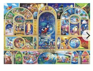 Disney All Character Dream Puzzle including Dark Brown Frame 108 Pcs D-108-988