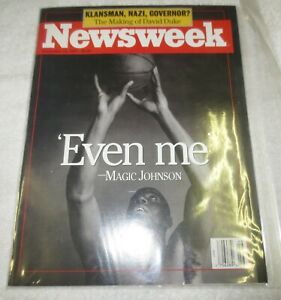 ☆ FLAWLESS NEWSWEEK Magazine - MAGIC JOHNSON - November 18, 1991 - EVEN ME - HIV