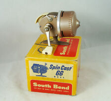 Old Vintage SOUTH BEND Spin Cast 66 Model A Fishing Reel + Box