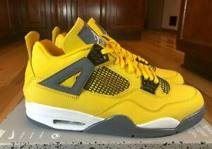 Nike Air Jordan 4 Retro Lightning Tour Yellow Dark Blue Grey CT8527 700 Size 13