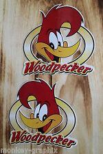 "2er Set  Oldschool Sticker "" Woody Woodpecker  ""  Aufkleber / Roadrunner Coyote"