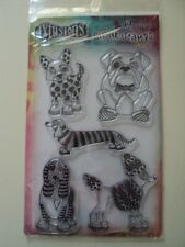 """RANGER DYLUSIONS BY DYAN REAVELEY CLEAR STAMPS """"PUPPY DOG TAILS"""" BNIP *LOOK*"""