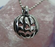 Halloween Jack-O-Lantern Sterling Silver Pendant