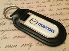 MAZDA Real Leather Keyring  Printed resin coated 3 4 5 6 MX 5  CX-3 RF COLT