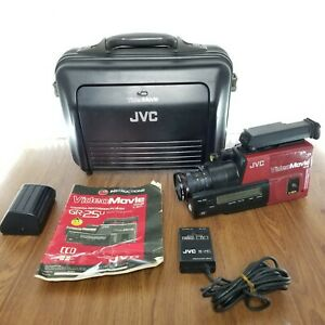 Retro JVC GR-25U VHS-C Video MovieCamcorder w/ Battery, Bag,Charger- WORKING