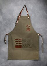 Copacetic Luxury Canvas and Leather Barber Apron - Olive