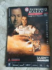 Official Network Q Rally 2002 Programme & Maps WRC Wales Rally GB Guide Book