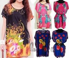 Regular Size Polyester Floral Tunic Tops and Blouses for Women