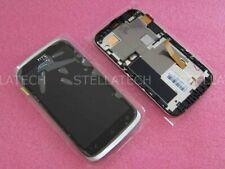 Original HTC Desire X Display LCD Touchscreen+Rahmen Silber/Weiss