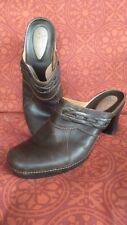 Clark's Artisan Brown Leather Mules Clogs Sz 8