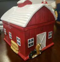 The Pioneer Woman Cookie Jar ~ RARE RUSTIC BARN ~ BEAUTIFUL!