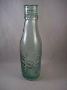 Vintage Green Glass Bottle With Internal Screw Thread - S. Fletcher Haslingden