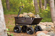 1200 lb Gorilla Cart Dump Heavy Duty Wheel Barrow Garden Wagon Unloaded Truck HQ