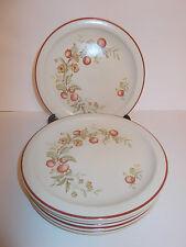 6 X Flor de país 2412 Horno a Vajilla lado placas de pastel de té-encantadora