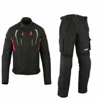 Herren Motorrad Textil Jacke und Hose Motorrad Textil Kombi Schwarz Gr S-5XL