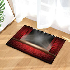 Theatre Stage Red Seat Festive Style Rug Carpet Bedroom Bathroom Mat Doormat