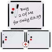 2 x Dry Wipe Magnetic Whiteboard Office Notice Memo White Board Pen Eraser A4