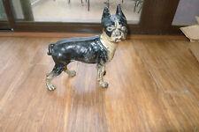 Antique Cast Iron Square Nut Boston Terrier Door Stop