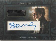 Sophie Turner as Sansa Stark Autograph Relic Card, Game of Thrones Season 8