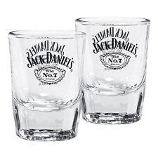 Jack Daniels Shot Glasses Set of 2 Cartouche Man Cave Bar Den Birthday Gift