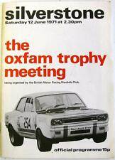 SILVERSTONE 12th Jun 1971 Oxfam Trophy Motor Racing Official Programme