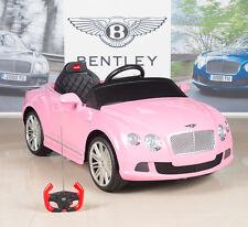 Bentley Kids Ride On Power Wheels Car RC Remote 12V Battery Girls Pink