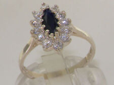 Sapphire Sterling Silver Natural Fine Gemstone Rings